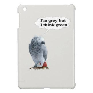 African Grey Thinks Green iPad Mini Cover