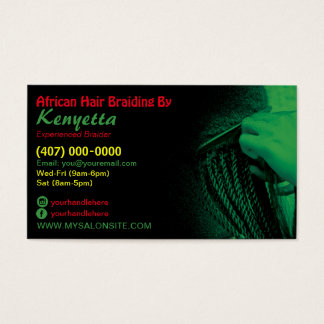 African Hair Braiding Business Card Template
