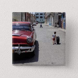 African Hamel district, Havana, Cuba, UNESCO 15 Cm Square Badge
