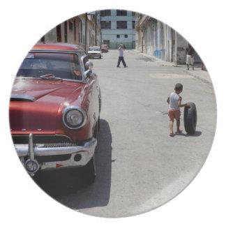 African Hamel district, Havana, Cuba, UNESCO Plate