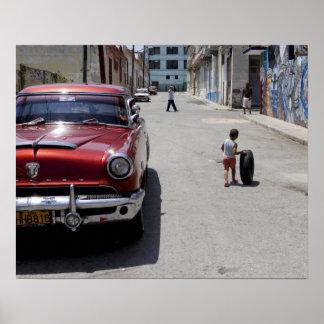African Hamel district, Havana, Cuba, UNESCO Poster