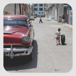 African Hamel district, Havana, Cuba, UNESCO Square Sticker
