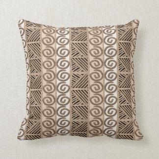 african hand-drawn ethnic pattern cushion