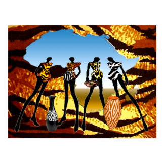 African Home Coming Postcard