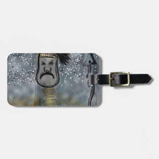 African hunter luggage tag