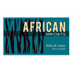African Imports I - Afrocentric African American Business Card Template