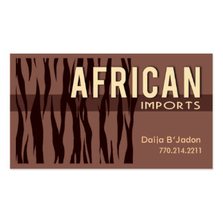 African Imports I - Afrocentric African American Pack Of Standard Business Cards