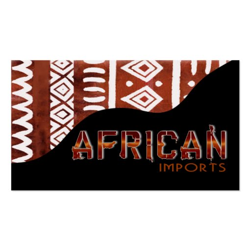 African business cards choice image business card template collections of african american business cards african imports ii afrocentric kenyan mud cloth business card templates colourmoves Images