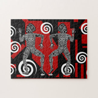 African indians in spiral Puzzle