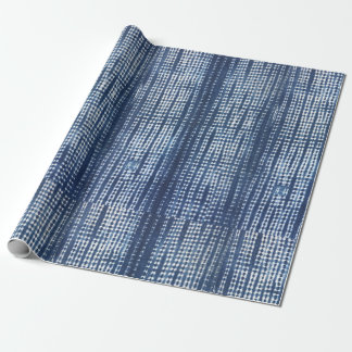 African Indigo Mudcloth Wrapping Paper