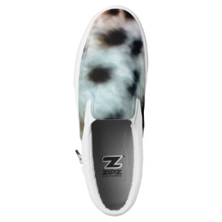 African inspired fur abstract print printed shoes