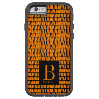 African Inspired Orange Domino Pattern Monogram Tough Xtreme iPhone 6 Case