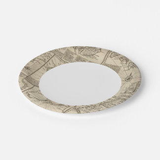 African Islands Paper Plate