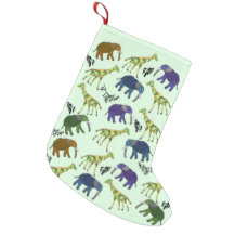 African Jungle Christmas Stocking