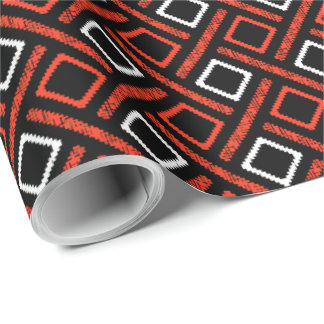 African Kuba Pattern Wrapping Paper