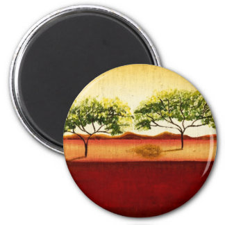 African Landscape Refrigerator Magnet