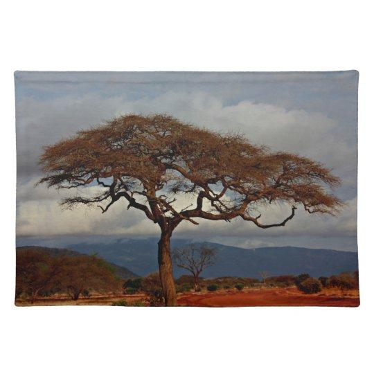 African landscape place mat