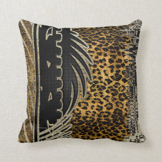 African Leopard In Motion Throw Pillow