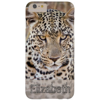 African Leopard Personalized Barely There iPhone 6 Plus Case