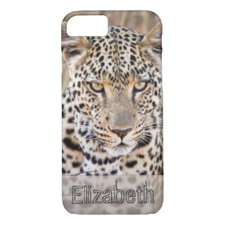 African Leopard Personalized iPhone 8/7 Case
