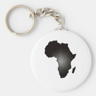 African Light Basic Round Button Key Ring
