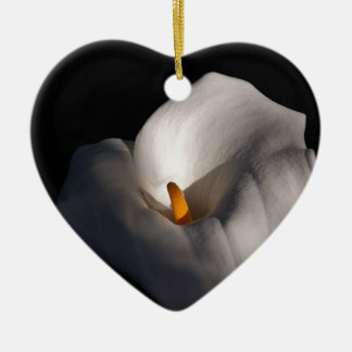 African lily ceramic heart decoration