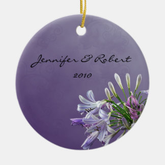 African Lily on Lavender Christmas Ornament