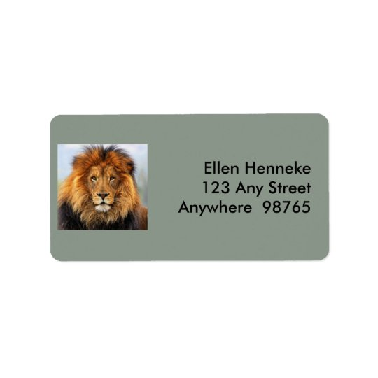 African Lion 1 Label