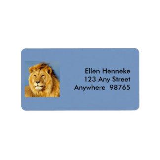 African Lion 2 Label