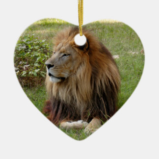African Lion Christmas Ornament