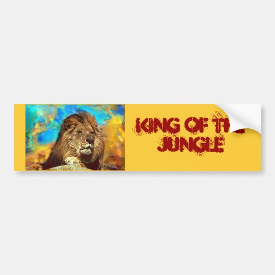 African-Lion-Digital Art Bumper Sticker