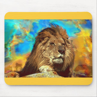 African-Lion-Digital Art Mouse Pad