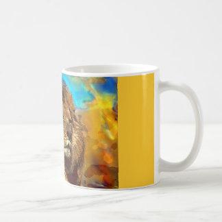 African-Lion-Digital Art Coffee Mugs