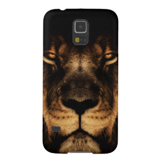 African Lion Face Art Galaxy S5 Covers