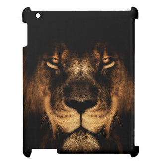 African Lion Face Art iPad Cover