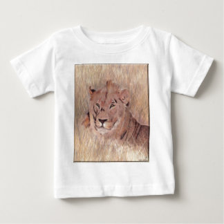 African Lion Painting Baby T-Shirt