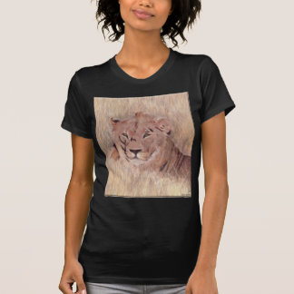 African Lion Painting T Shirt