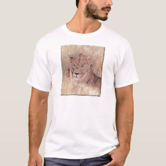 African Lion Painting T-Shirt