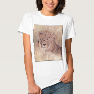 African Lion Painting Tshirt