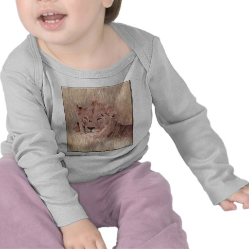 African Lion Painting Tee Shirts