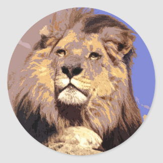 African Lion Stickers