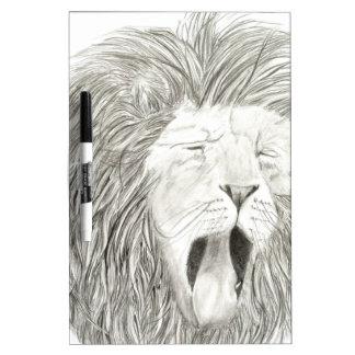 African Lion; Wildlife Artwork Collection Dry Erase Board