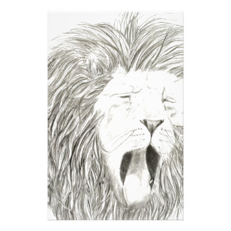African Lion; Wildlife Artwork Collection Personalised Stationery