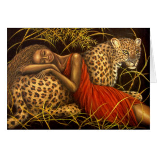 African Love Greeting Card