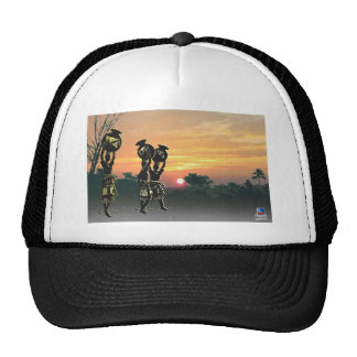 African maidens with calabashes at dusk.jpg mesh hat