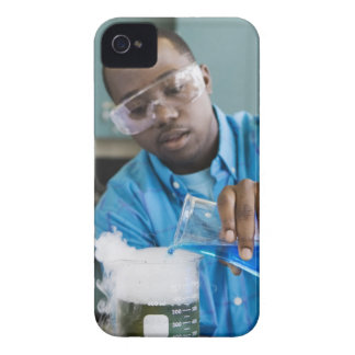 African man performing experiment in chemistry iPhone 4 covers