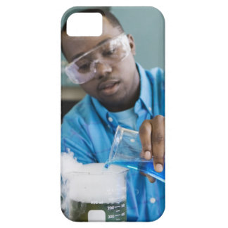 African man performing experiment in chemistry iPhone 5 covers