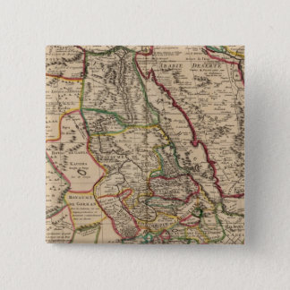 African map 15 cm square badge
