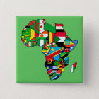 African Map of Africa flags country maps flag 15 Cm Square Badge
