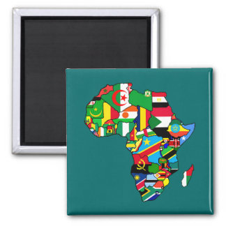 African Map of Africa flags within country maps Magnet